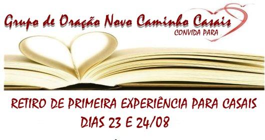 RETIRO DE PRIMEIRA EXPERIÊNCIA PARA CASAIS