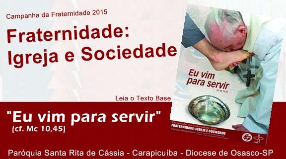 CNBB publica texto base da Campanha da Fraternidade 2015