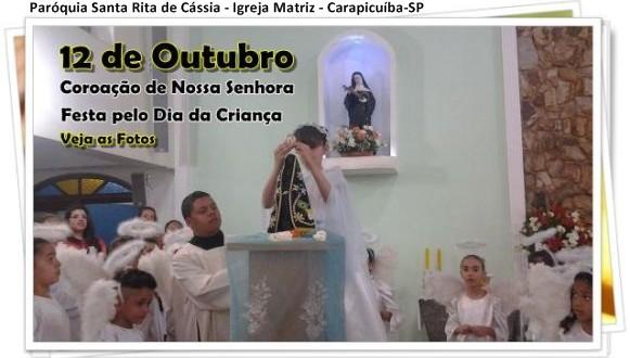 Coroação de Nossa Senhora e Festa pelo Dia da Criança