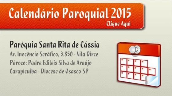 Calendário Paroquial 2015