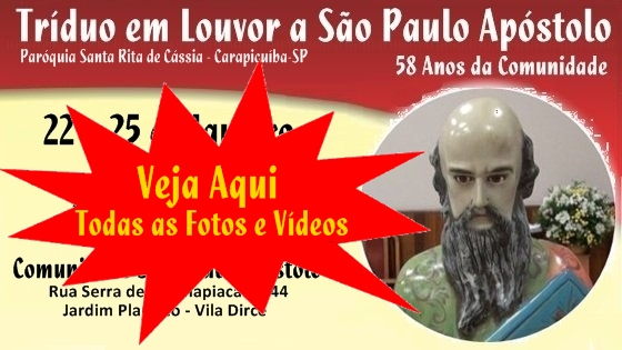 Tríduo em Honra a São Paulo Apóstolo 2015 – Fotos e Vídeos