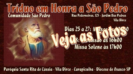 Encerramento do Tríduo em Honra a São Pedro 2015