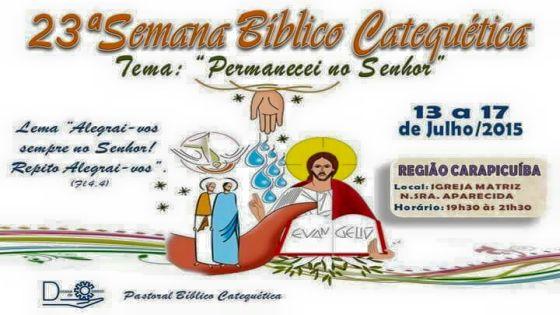 23ª Semana Bíblico Catequética – Região Carapicuiba-SP
