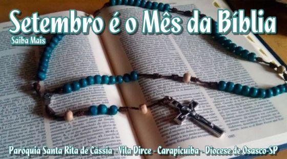 Setembro no Brasil é o mês da Bíblia