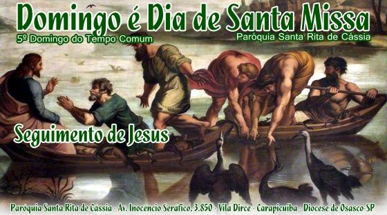 Informativo: Missas e Celebrações – Domingo 07 de Fevereiro